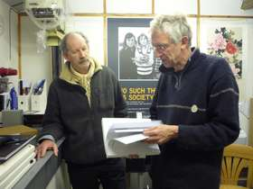 Daniel Meadows and Jem Southam in The Factory, 2012