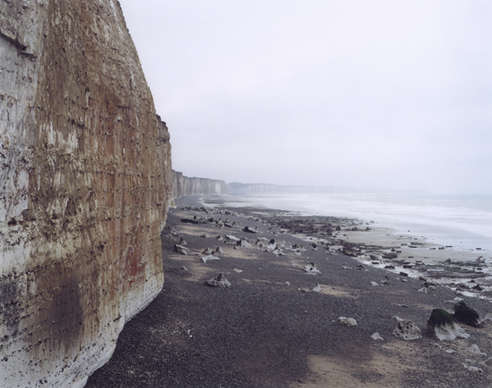 Jem Southam: Normandy cliffs, south of Dunkirk